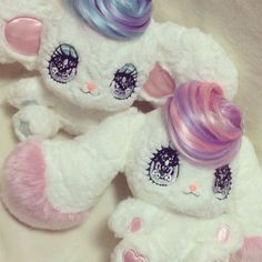 Super kawaii fuzzy plushies! pic by gonhanamizz      #toy #kawaii #plushie