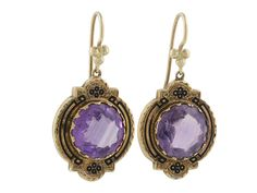 Antique Victorian Amethyst Earrings in 14K from B2 at Beladora.com