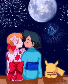 Pokemon ::Pokeshipping Week:: Day 7 by on DeviantArt Pokemon Ash And Misty, Merry Christmas 2017, Pikachu, Fairy Tail Gray, Dragon Tales, Pokemon Collection, Tower Of Terror, Gym Leaders, Pokemon Ships