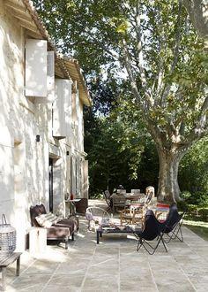 patio outside provence summer home. / sfgirlbybay