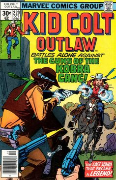 Kid Colt Outlaw #220 cover by Gil Kane