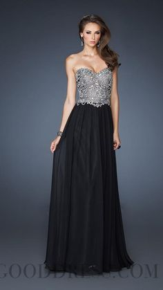 2013 Best-selling A-line Floor-length Sweetheart Chiffon Evening Dresses