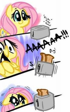 Poor Fluttershy... so cute and funny :)