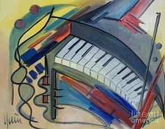 Painting - Piano  by Nicola Quici
