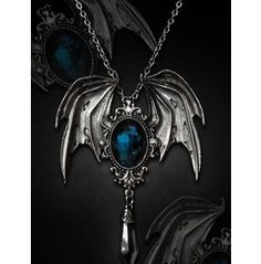 Gothic Midnight Bat Wing Necklace