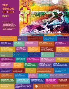 Printable Lenten Calendar 2014 | Trend Photos The Season of Lent 2014 Poster