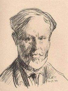 Jan Zoetelief Tromp, 1872 †1947 Self portrait.