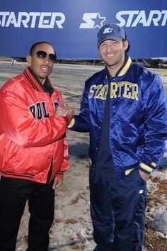 Tony Romo and Ludacris shovel snow for charity