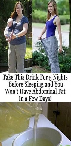 Nightly drink to fight belly fat