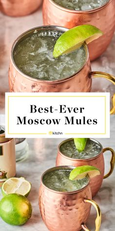 Moscow mule ginger beer These Gingery Moscow Mules Make Every Day Feel Like a Weekend How to Make the Best Moscow Mules Fun Drinks, Cocktail Drinks, Yummy Drinks, Alcoholic Drinks, Liquor Drinks, Bartender Drinks, Party Drinks, Best Drinks, Gin Cocktail Recipes
