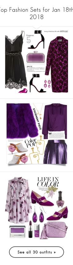 """Top Fashion Sets for Jan 18th, 2018"" by polyvore ❤ liked on Polyvore featuring Lela Rose, Georgine, Oscar Tiye, Judith Leiber, Renee Lewis, Marni, statementcoats, Balmain, Gucci and Nina Kastens"