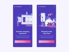 Ecommerce Animations designed by Anton Tkachev for Connect with them on Dribbble; Otto Schmidt, App Ui Design, Mobile App Design, Dashboard Design, Design Design, Branding, Zbrush, Art Tutorial, Sketch Manga