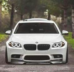 BMW F10 5 series white slammed