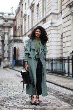 60 Inspiring Street-Style Snaps From LFW #refinery29 http://www.refinery29.com/london-fashion-week/street-style#slide9 The tonality of this look is so appealing.