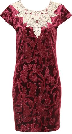 Latest Hits, Crochet Collar, Burgundy Flowers, Collar Dress, Latest Fashion Clothes, Velvet, Formal Dresses, Clothing, Color