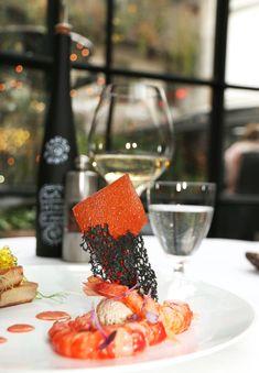 10 Corso Como red prawns Spritz marinated, veal tongue and wasabi pearls by one star Chef #CorradoMichelazzo at #10CorsoComo in Milan