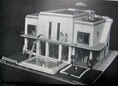 Kit Bashing and Cannibalizing to Build an Art Deco Dollhouse