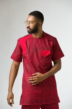 Nigeria's Sammies Couture Features Ric Hassani, Vector Tha Viper and Bolu Olaitan Star In New Collection African Clothing For Men, African Shirts, African Men, African Fashion, African Style, Mens Fashion Wear, Male Fashion, Native Wears, Bae