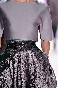 Carolina Herrera Pockets w raised curve, fabrication, asymmetry - a stunning skirt (BHI insp).