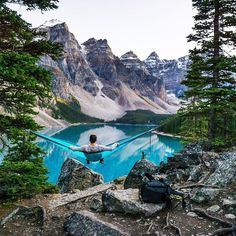 """chrisburkard: """"It's always fun to scroll through the photos I'm tagged in and find some of my old work that's floating around IG. Always grateful for folks that feature my work ✌️. (at moraine lake,..."""
