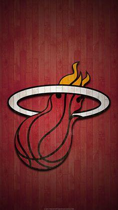 Miami Heat Mobile hardwood Logo Wallpaper v1