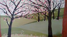 """Estudiando a los maestros. Óleo sobre lienzo - """"Almendros en flor"""", por Javier Vega Regueiro."""