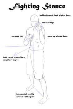 typical fighting stance breakdown