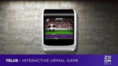 Zoom Media - Telus Interactive Urinal Game