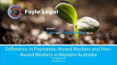 In this video Christian Foyle of Foyle Legal discusses the difference in rates of pay between award workers and non award workers and how it can make a big difference to workers compensation claims in Western Australia. Foyle Legal Website: https://foylelegal.com/, Foyle Legal Address: 5A/74 Kent Way, Malaga, Perth, WA 6090, Personal Injury Claims at Foyle Legal: https://foylelegal.com/personal-injuries