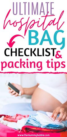 The hospital bag: What you need & how to pack it - The Mummy Bubble Hospital Bag Essentials, Hospital Bag Checklist, Girl Diaper Bag, Baby Diaper Bags, Pregnancy Guide, Pregnancy Workout, Emergency Bag, Baby Girl Names, Baby Girls