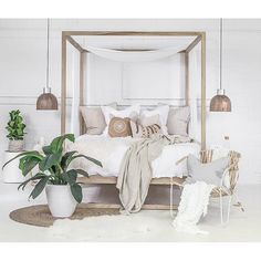 The Strand Four Poster Bed is made from the highest quality European oak finished with a clear lacquer topcoat. All Uniqwa Furniture beds come with a posture slat system. Bedding Master Bedroom, Master Bedroom Design, Dream Bedroom, Home Bedroom, Modern Bedroom, Bedroom Decor, Decor Room, Home Decor, Bedroom Inspo