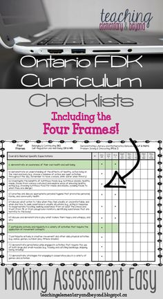 Attention Ontario FDK Kindergarten teachers! New assessment and documentation checklists including the Four Frames! A great addition to your teacher or assessment binder to assist with long-range planning and report card writing.