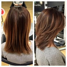 Copper balayage and modern shag cut! Haircuts For Medium Hair, Medium Hair Cuts, Long Hair Cuts, Medium Hair Styles, Straight Hairstyles, Short Hair Styles, Medium Haircuts With Layers, Layered Haircuts Shoulder Length, Shoulder Length Hair