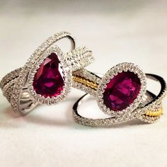 Rubies and Diamonds! Such a lovely pair.