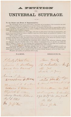 In this activity, students will examine one way that Susan B. Anthony and other suffragists fought for the right to vote.