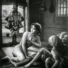 The Story of Vitthal and Pundalik - Pundalik is a symbol for Supreme, Unconditional Love. Pundalik's devotion caused Lord Vitthal to go looking for him. Pandharpur is home to the story of Vitthal and Pundalik. Baby Krishna, Krishna Radha, Hanuman, Lord Krishna Images, Radha Krishna Pictures, Lord Rama Images, Indian Saints, Kali Goddess, Saraswati Goddess