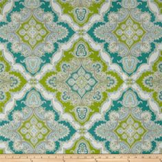 P Kaufmann Indoor/Outdoor Zoie Turquoise/ $10.98 yd fabric.com
