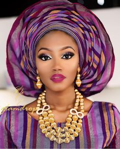 African Wedding Attire, African Attire, African Wear, Maquillage Yeux Cut Crease, Maquillage Black, African Dresses For Women, African Fashion Dresses, African Women, Nigerian Bride