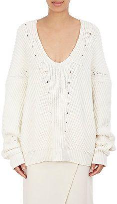 Shop Now - >  https://api.shopstyle.com/action/apiVisitRetailer?id=608244171&pid=uid6996-25233114-59 Acne Studios Women's Chunky V-Neck Sweater  ...