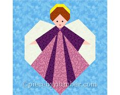 The Guardian Angel quilt block PDF quilt pattern has simple directions and clearly labeled paper piecing patterns to create a 6 inch (15.2cm) paper pieced block (easily resizable using the percentages table included). Youll receive both angel quilt block patterns, hands open or hands clasped. Leave her face plain Amish-style, or add fabric marker or embroidered details. Shes a very sweet block for baby quilts, or choose richly-colored dress and background fabrics for a Christmas quilt or…