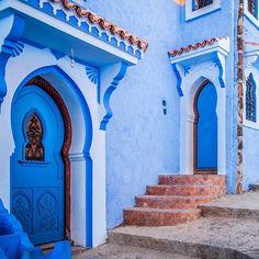 Welche Tür würdet ih wählen?  #chefchaouen #chaouen #marokko #getaway #bucketlist #fernweh #instatravel #tripadvisor…