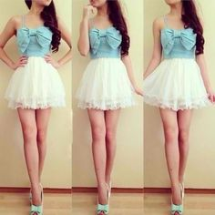 Modern day disney princess Ariel would wear this. Cute Sweetheart Short Prom Dress,Homecoming Dress from Sweetheart Girl Cute Fashion, Look Fashion, Teen Fashion, Dress Fashion, Fashion Shoes, Fashion Skirts, Fashion Killa, Korean Fashion, Fashion Models