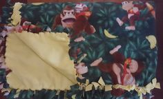 Donkey Kong (2yd) Handmade Fleece Blanket by KnotMyStyleBoutique on Etsy