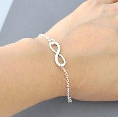 Silver infinity Bracelet everyday Jewelry infinity by Jewelmint, $14.00
