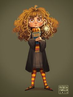 Hermione Granger, Natalia Morillo on ArtStation at https://www.artstation.com/artwork/gqLXm