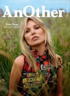 Kate Moss covers Another Magazine in Tattoo Dress