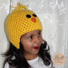 Chicken crochet hat. Gorro pollito a crochet.
