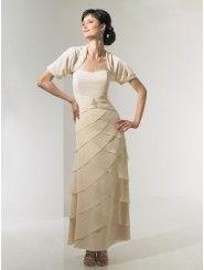 Chiffon Strapless Floor-Length A-line Bridesmaid Dress