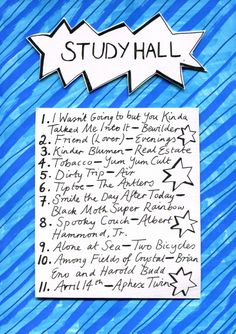 Friday Playlist: Study Hall A distractions-free mix for doing homework.