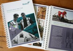 Designing for Wates Construction again; this time designing a suite of brochures within a folder. A mangers guide for many aspects their field.  It's all about 'Building right first time' and avoiding common defects to raise the overall quality.